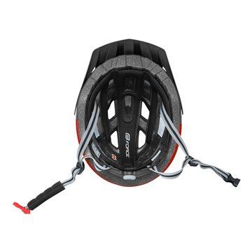 Bluza ciclism Force Lux maneci scurte negru/alb XS