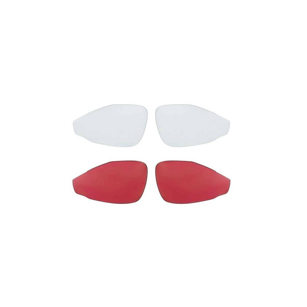 Ochelari Force For albi, lentila rosie
