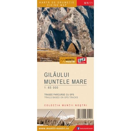 Harta Muntii Gilaului si Muntele Mare