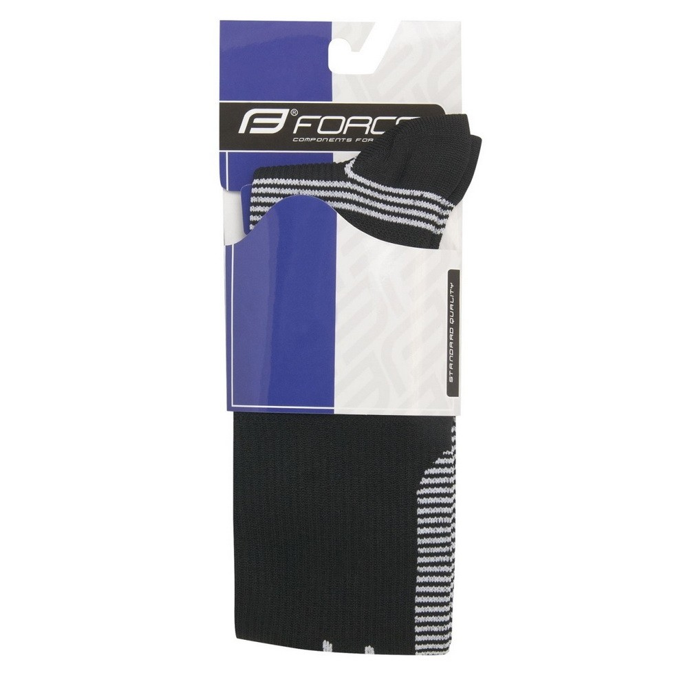 Sosete Force Athletic compression negru/alb L/XL