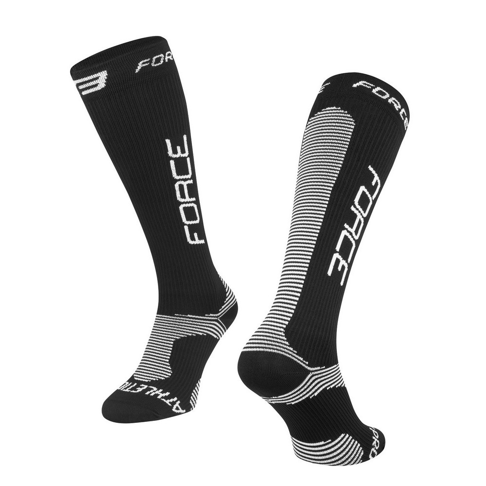 Sosete Force Athletic PRO Compress Negru/Alb