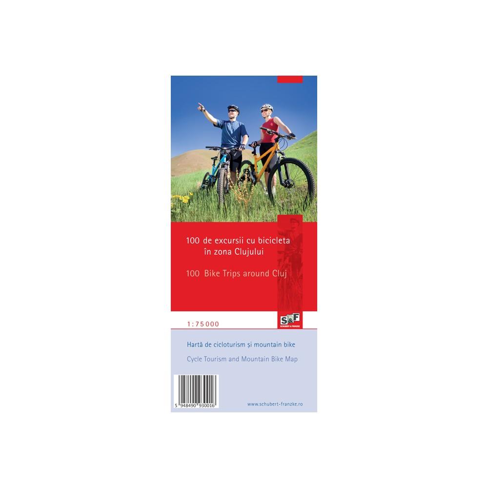 Harta 100 excursii cu bicicleta în zona Clujului
