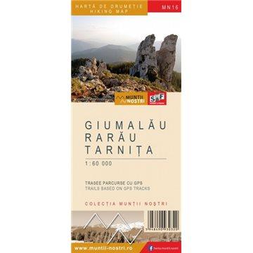 Harta Muntii Giumalau-Rarau