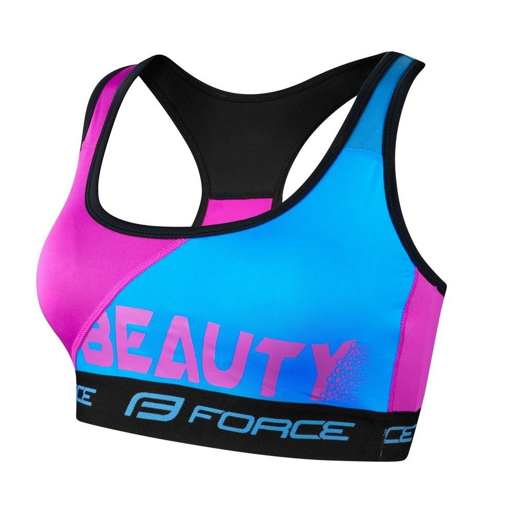Sutien sport Force Beauty albastru/roz